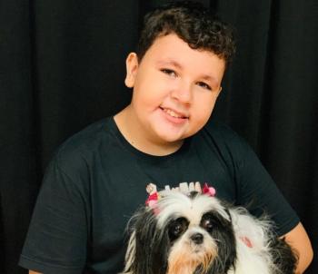 Walmir Neto, de 13 anos, faz tratamento contra um câncer — Foto: Arquivo pessoal