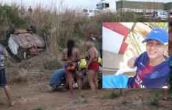 Jovem de 21 anos morre e quatro ficam feridos em capotamento de veículo na BR-163, em Nova Mutum