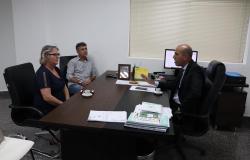 Ismael recebe a visita da prefeita de Seringueiras