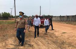 Ismael Crispin acompanha visita técnica do Corpo de Bombeiros em São Miguel do Guaporé