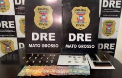 Casal que vendia drogas na frente dos filhos é preso em Cuiabá