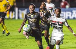 São Paulo e Ceará balançam a rede nos acréscimos e ficam no empate