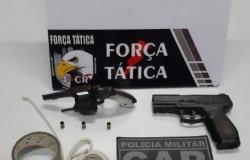Força Tática é acionada e encontra suspeito de tentativa de roubo ferido