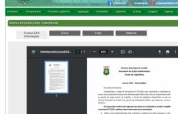 Nova página facilita acesso dos servidores aos portais de cursos online