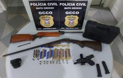 Polícia Civil apreende armas de fogo e mais de 80 munições em chácara na zona rural de Cuiabá