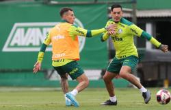 Com Lucas Lima, Palmeiras treina na Academia visando Ponte Preta