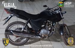 Polícia Civil recupera motocicleta furtada em Cáceres e prende suspeito minutos após o crime