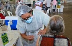 Idosos de 65 a 69 anos começaram a receber a segunda dose da vacina nesta segunda-feira (10)