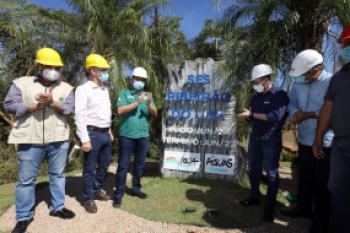 Emanuel lança obra de saneamento que vai beneficiar 77 bairros e despoluir o córrego Mãe Bonifácia