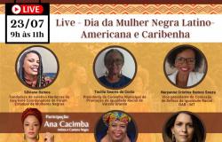 Live interativa destaca o Dia da Mulher Negra, Latino-americana e Caribenha