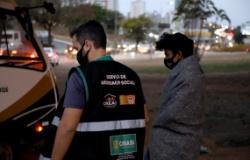 Equipes da força-tarefa percorrem áreas de concentração de pessoas em situação de rua e distribuem 250 refeições e 250 cobertores