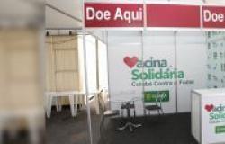 Estandes da Vacina Solidária são montados para mobilização que irá promover arrecadação recorde de alimentos