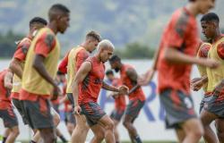 Flamengo dá sequência à preparação para enfrentar o Palmeiras, pelo Brasileirão