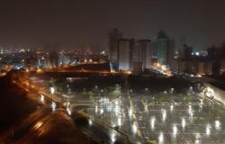Chove em Cuiabá e dia amanhece com temperatura 'amena'