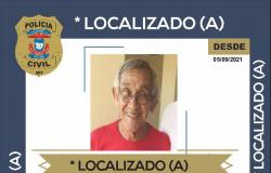 Polícia Civil localiza idoso que estava há uma semana desaparecido de família na Capital