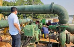 Kalil acompanha instalação de novas bombas e adutora de água
