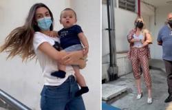 Lívia Andrade vai com namorado em teste de DNA do filho de Pétala