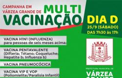 """Várzea Grande realiza neste sábado dia """"D"""" da 2ª Multivacinação e Influenza"""