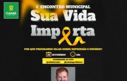 """Cuiabá promove o 1º Encontro Municipal """"Sua Vida Importa"""" inscrições para palestra de abertura estão abertas"""