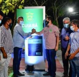 Prefeito Emanuel Pinheiro entrega obras de pavimentação e praça na Vila Guimarães