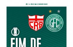 Guarani empata em 2 a 2 com o CRB no Estádio Rei Pelé