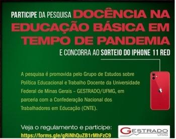 COVID-19 Participe da pesquisa \'Docência na Educação Básica em Tempo de Pandemia\'