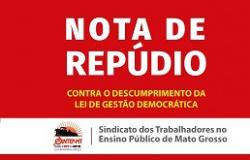 Rede Estadual: CONTRA O DESCUMPRIMENTO DA LEI DE GESTÃO DEMOCRÁTICA