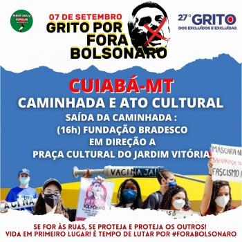 7 de Setembro Grito dos Excluídos - EM DEFESA DA VIDA!