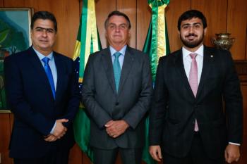 Após pedido do prefeito de Cuiabá, Bolsonaro promete estudar envio de doses extras de vacinas para Cuiabá