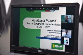 Prefeitura participa da primeira audiência pública sobre a LDO 2022