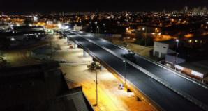 Sistema de iluminação do viaduto Murilo Domingos passa por período de testes