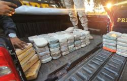 """PRF acha 108 kg de cocaína em """"Mocó"""" feito em carreta; 2 homens são presos"""