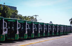 Prefeito Emanuel Pinheiro entrega 144 novos ônibus na segunda-feira; frota conta com ar-condicionado em todas as unidades
