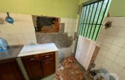 Bandidos rendem vizinhos de banco, fazem buraco na parede e tentam furtar agência no CPA