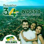 Nova Olimpia 34 Anos de Amor por essa Terra