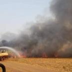 Bombeiros Militares agem em combate a incêndio em plantação de Cana-de-açúcar em Campo Novo do Parecis