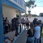 Policiais de Denise recebem primeira dose da vacina contra a Covid-19