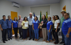 Visita da governadora Marly de Fátima ao Rotary Club de Nova Olímpia