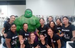O Incrível Hulk fez a alegria da clientela Garbbo's