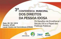 3º CONFERÊNCIA MUNICIPAL DE DEFESA DOS DIREITOS DA PESSOA IDOSA EM NOVA OLÍMPIA