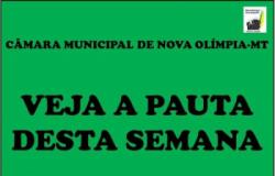 PAUTA Nº 015/2019 DA SESSÃO DA CÂMARA DE NOVA OLÍMPIA NESTA SEGUNDA-FEIRA (17)