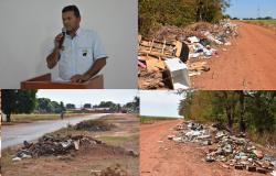 VEREADOR RONALDO COBRA MAIS RESPONSABILIDADE NO DESCARTE DE LIXO POR PARTE DA POPULAÇÃO