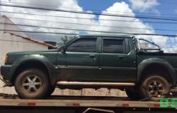 PM recupera caminhonete furtada no bairro Jardim Califórnia em Tangará