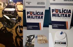 PM de Nova Olímpia recupera moto furtada e apreende drogas em Hotel. Suspeito fugiu
