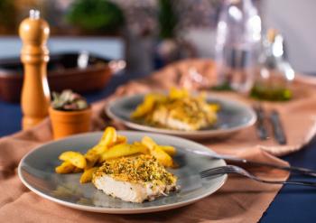 Receita de Pirarucu com crosta de alho
