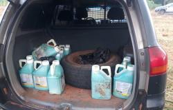 Defensivo agrícola roubado é encontrado escondido em bairro de Tangará da Serra