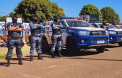 Comando da Polícia Militar de Tangará da Serra recebe seis novas viaturas
