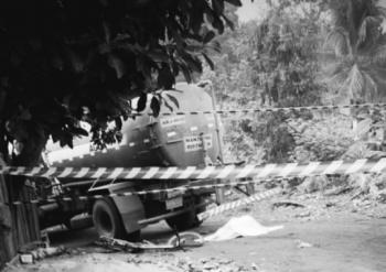 Mulher morre atropelada por caminhão-pipa em Barra do Bugres