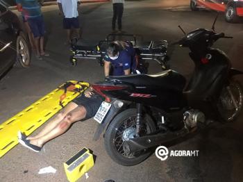Motociclista fica ferida em acidente / Franthescolly Gomes – TV Vale Record