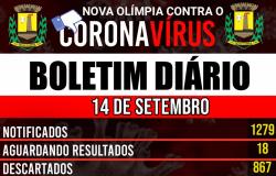 Nova Olímpia - Boletim Covid-19 (14/09)